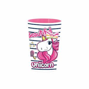 Unicorn Desenli Pembe Bardak 340 ml.