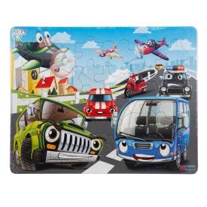 30 Parça Puzzle : Arabalar Yolda