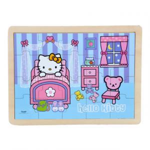 Hello Kitty Evde Ahşap Puzzle 20 Parça