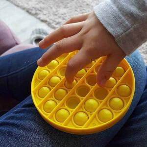 Push Pop Bubble Pop It Duyusal Oyuncak Özel Pop Stres Kare Sarı 0048