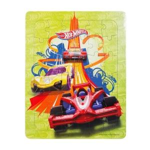 36 Parça Puzzle : Hot Wheels Yarış Arabaları