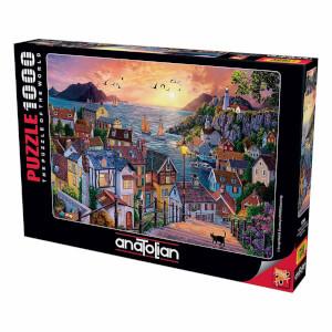 1000 Parça Puzzle : Sahilde Günbatımı