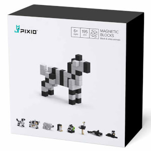 Pixio Black & White Animals Manyetik Blok