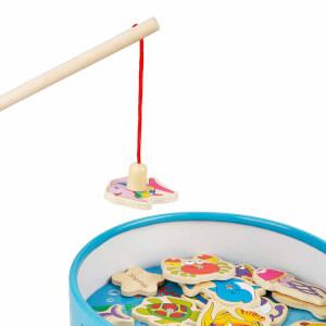 Woody Mıknatıslı Ahşap Balık Oyunu 20 Parça