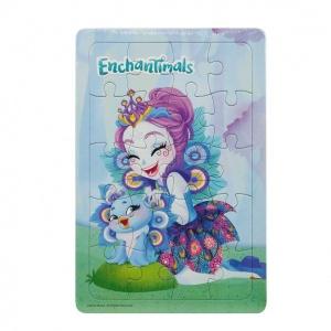 20 Parça Puzzle : Enchantimals Patter Peacock