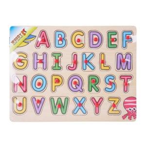 Woody Alfabe Ahşap Raptiyeli Puzzle 26 Parça