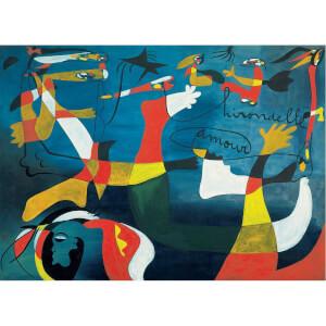 1000 Parça Puzzle : Swallow Love - Joan Miro