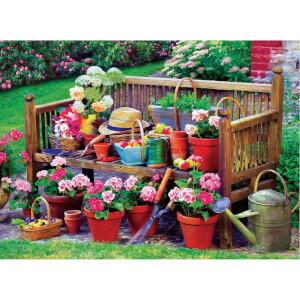 1000 Parça Puzzle : Garden Bench
