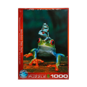 1000 Parça Puzzle : Red Eyed Tree Frog