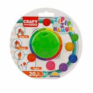 Crafy Zıp Zıp Oyun Hamuru 20 gr. (Yeşil)