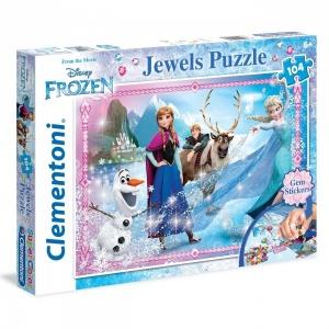 104 Parça Jewels Puzzle : Frozen