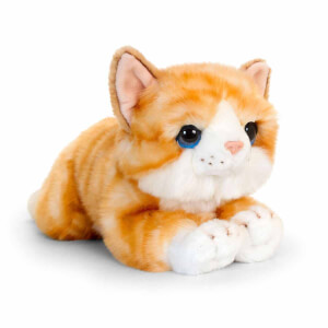 Yatan Sarı Kedi Peluş 32 cm.