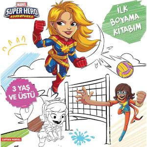 Marvel Super Hero Adventures Captain Marvel İlk Boyama Kitabım