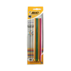 Bic Evolution Stripes Kurşun Kalem 4`lü