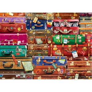 1000 Parça Puzzle : Travel Suitcases