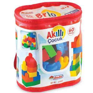 Akıllı Çocuk Renkli Bloklar 60 Parça