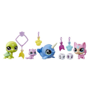 Littlest Pet Shop Şanslı Minişler Şans Ekibi 4'lü Sürpriz Paket E7258