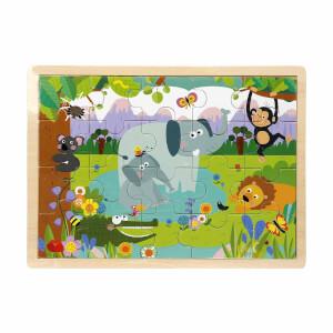 Woody Vahşi Hayvanlar Ahşap Puzzle 20 Parça