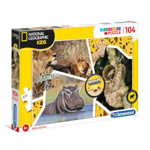 104 Parça Puzzle : National Geographic Kids Wildlife