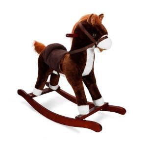 Sallanan At Hareketli ve Müzikli Kahverengi - Beyaz