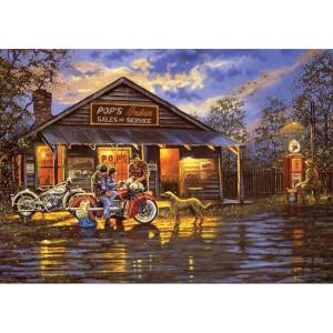 1000 Parça Puzzle : Motosikletçi