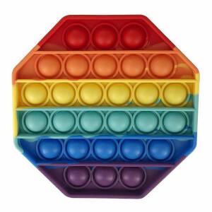 Push Pop Bubble Pop It Duyusal Oyuncak Özel Pop Stres Gökkuşağı Renkli