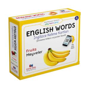 English Words İngilizce Kelime Kartları Meyveler