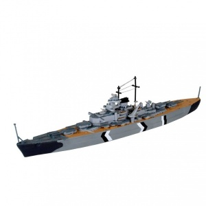 Revell 1:1200 Bismarck Kit Set