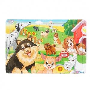 20 Parça Puzzle: Köpekler