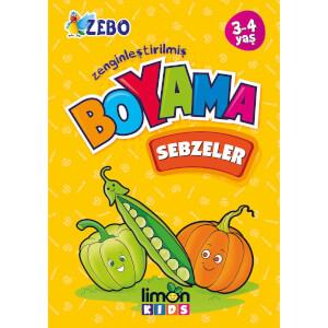 3-4 Yaş Zenginleştirilmiş Boyama - Sebzeler