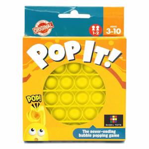 Push Pop Bubble Pop It Duyusal Oyuncak Özel Pop Stres Yuvarlak Sarı 0642