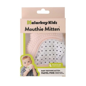 Mouthie Mitten Diş Kaşıyıcı Pastel Pembe Eldiven