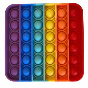 Push Pop Bubble Pop It Duyusal Oyuncak Özel Pop Kare Gökkuşağı Renkli