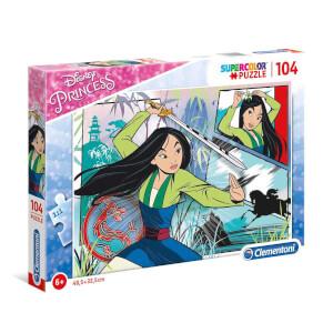 104 Parça Puzzle : Disney Prensesler Mulan