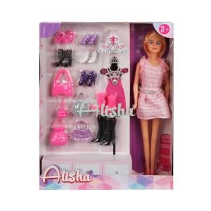 Alisha Ayakkabı ve Çantalı Bebek Oyun Seti