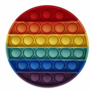 Push Pop Bubble Pop It Duyusal Oyuncak Özel Pop Stres Yuvarlak Gökkuşağı Renkli