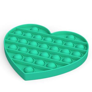 Push Pop Bubble Pop It Duyusal Oyuncak Özel Pop Kalp Yeşil
