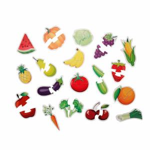 Sebzeler ve Meyveler Eğitici Puzzle 36 Parça