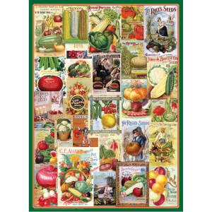 1000 Parça Puzzle : Vegetables Seed Catalogue Collection