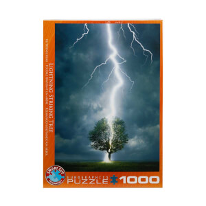 1000 Parça Puzzle : Lightning Striking Tree