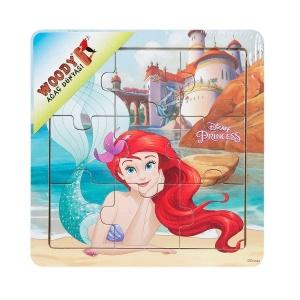 Disney Princess ve Arkadaşları Ahşap Puzzle 9 Parça