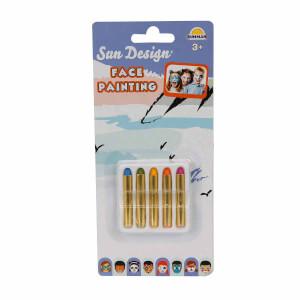Sun Design Yüz Boyama Kalemi 5 Renk