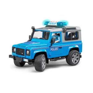 1:16 Bruder Land Rover Polis Aracı ve Memur Mavi
