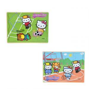 Hello Kitty Sporlar Ahşap Puzzle