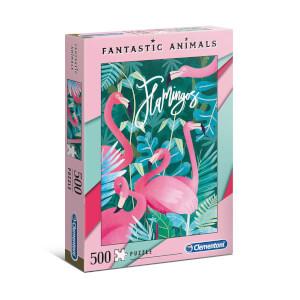 500 Parça Puzzle : Fantastic Animals Flamingos