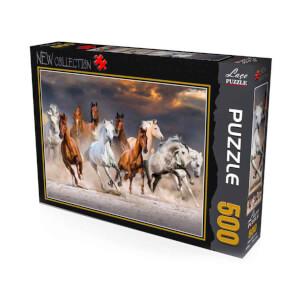 500 Parça Puzzle : Atlar