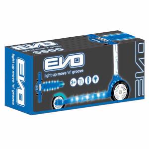 Evo Işıklı 3 Tekerlekli Mavi Scooter