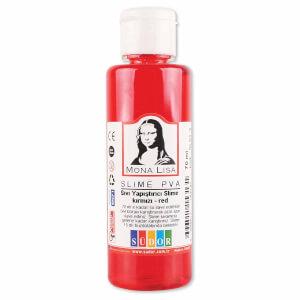 Sıvı Yapıştırıcı Slime Jeli Fosforlu Kırmızı 70 ml