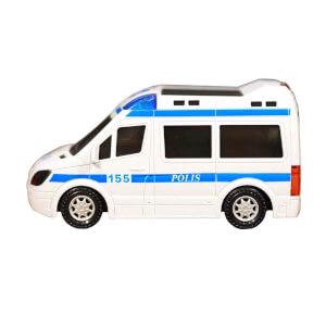 Işıklı ve Sesli Polis Arabası 21 cm.