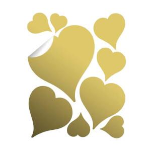 BugyBagy Gold Duvar Sticker Kalp Yağmuru 194 Adet